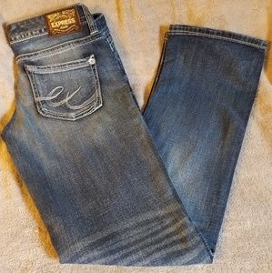 Express sz 6 stella low rise barely boot jeans
